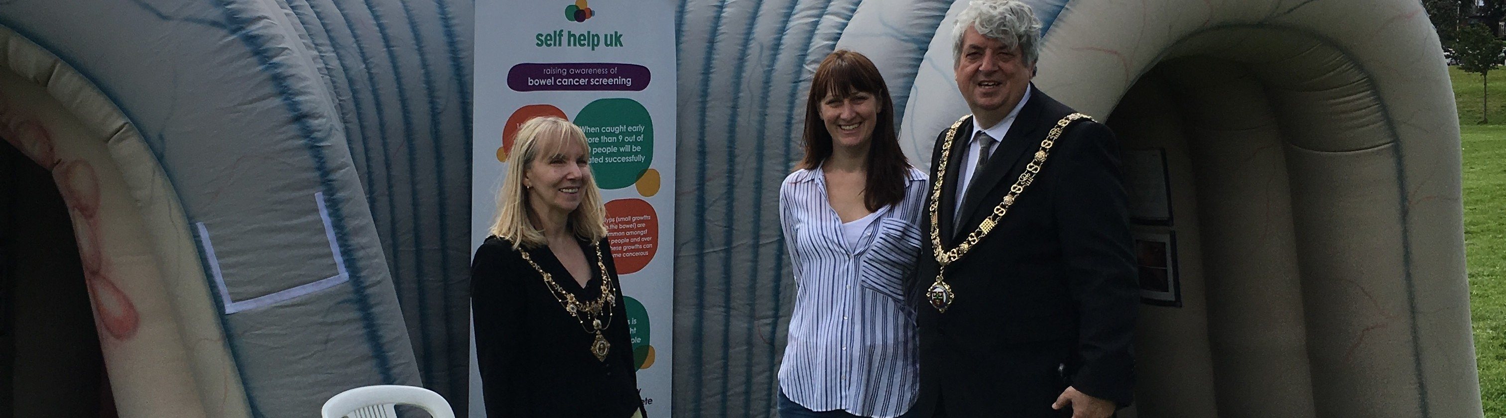 Keeley with Mayor of Nottingham at a promotional event