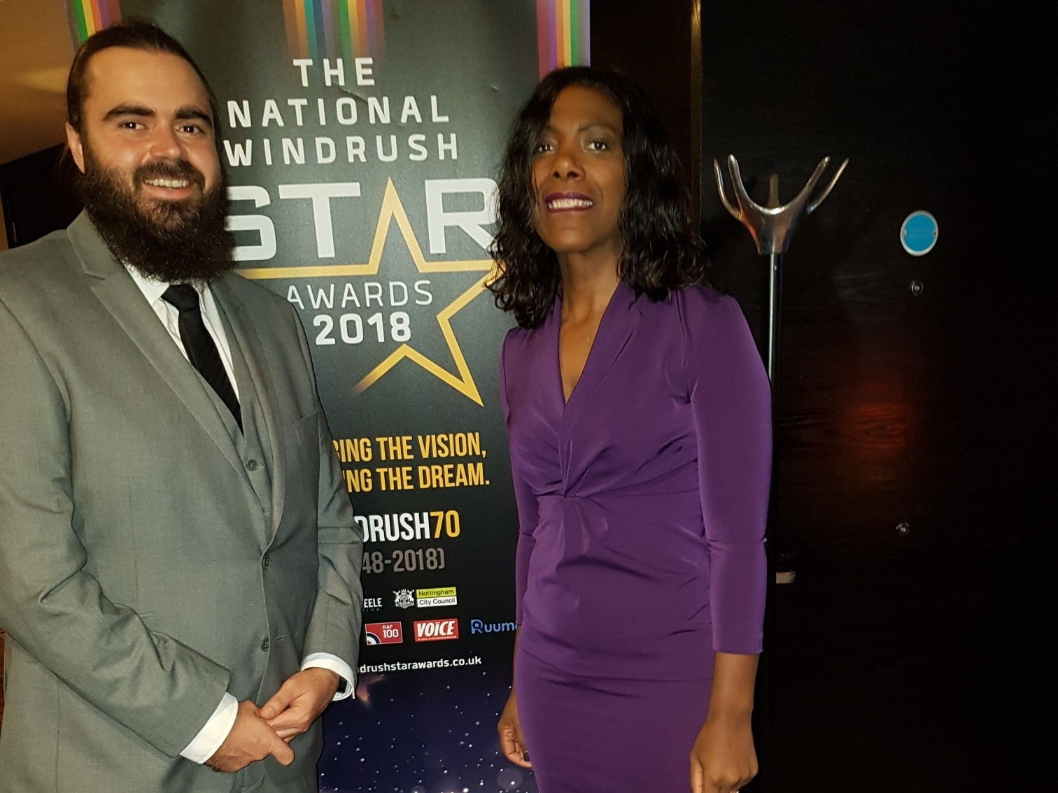 Andy and Carol, Service Coordinators at the National Windrush Awards