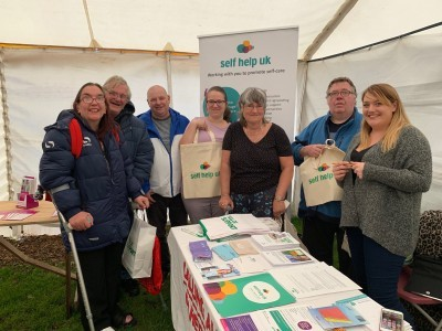 Self Help UK stall at Arnold Carnival