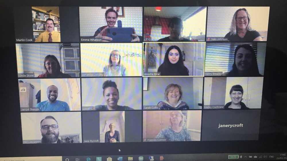 SHUK's Team staying connected using Zoom Video Conferencing