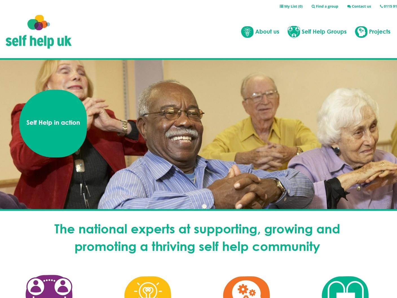 Self Help UK's New Homepage